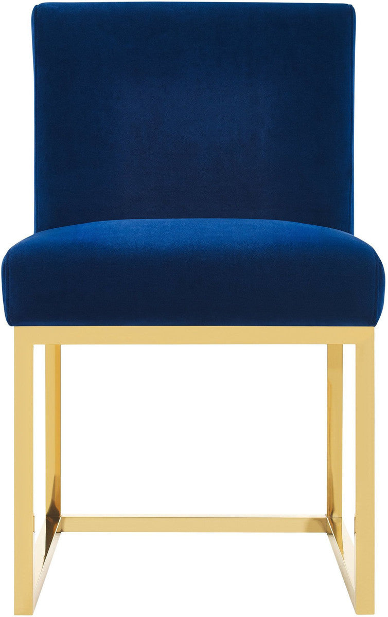 Haute Navy Velvet Accent Chair