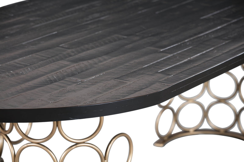 Valentina Brass Dining Table
