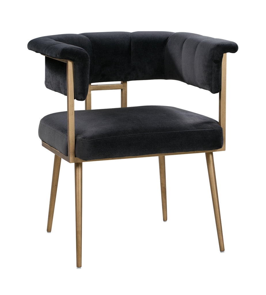 Astrid Grey Velvet Chair