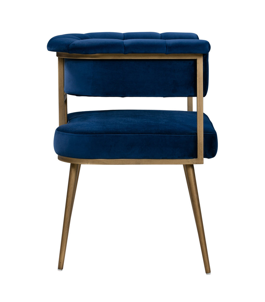 Astrid Navy Velvet Accent Chair