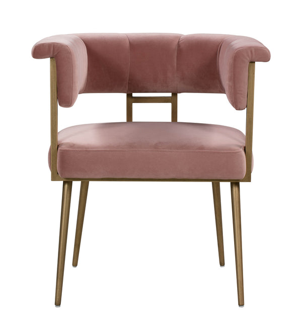 Astrid Blush Velvet Chair