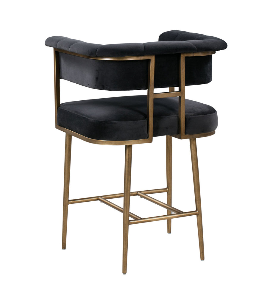 Astrid Grey Velvet Counter Stool