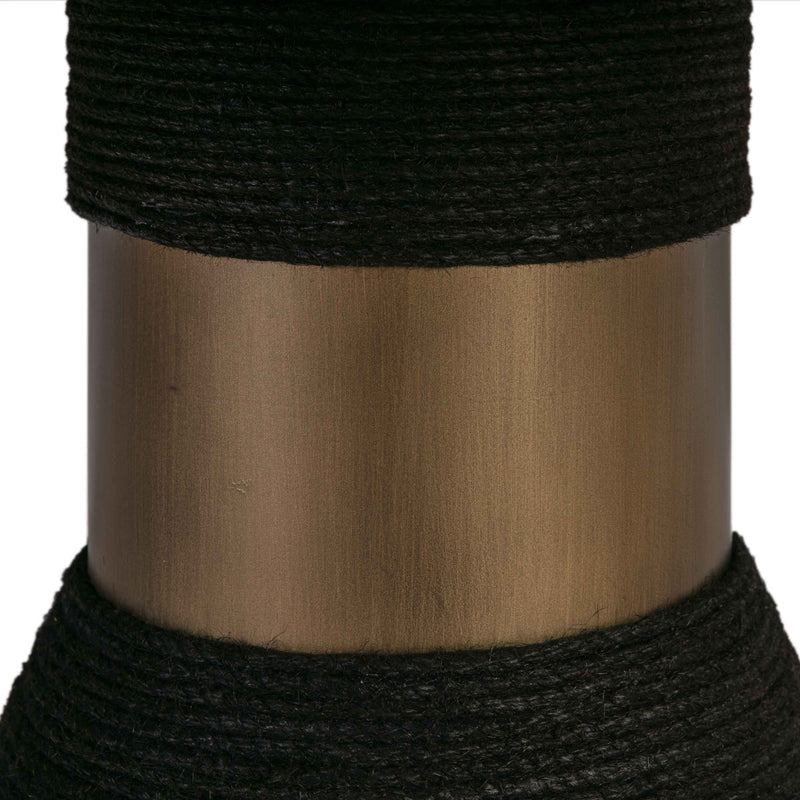 Rishi Black Rope Round Dining Table