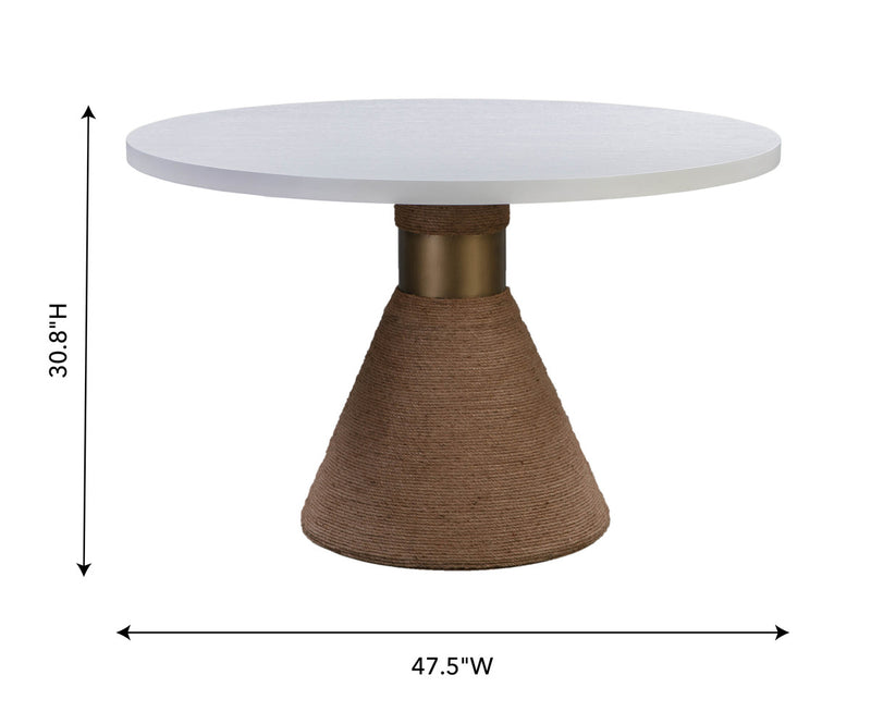 Rishi Natural Rope Round Dining Table