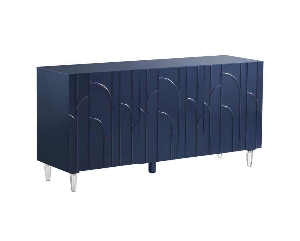 Deco Blue Lacquer Buffet