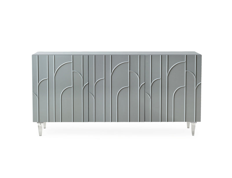 Deco Grey Lacquer Buffet