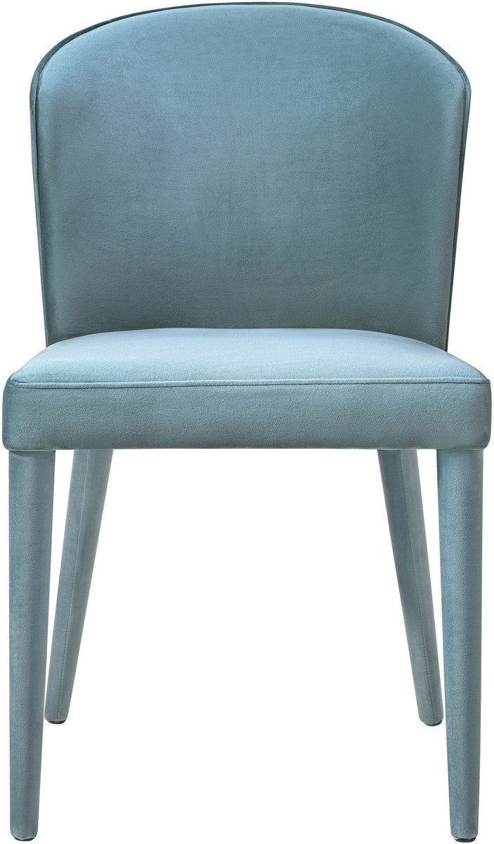 Metropolitan Sea Blue Velvet Dining Chair