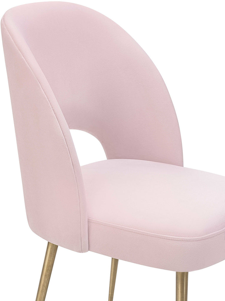 Swell Blush Velvet Dining Chair
