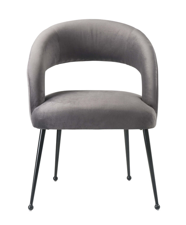 Rocco Grey Velvet Dining Chair