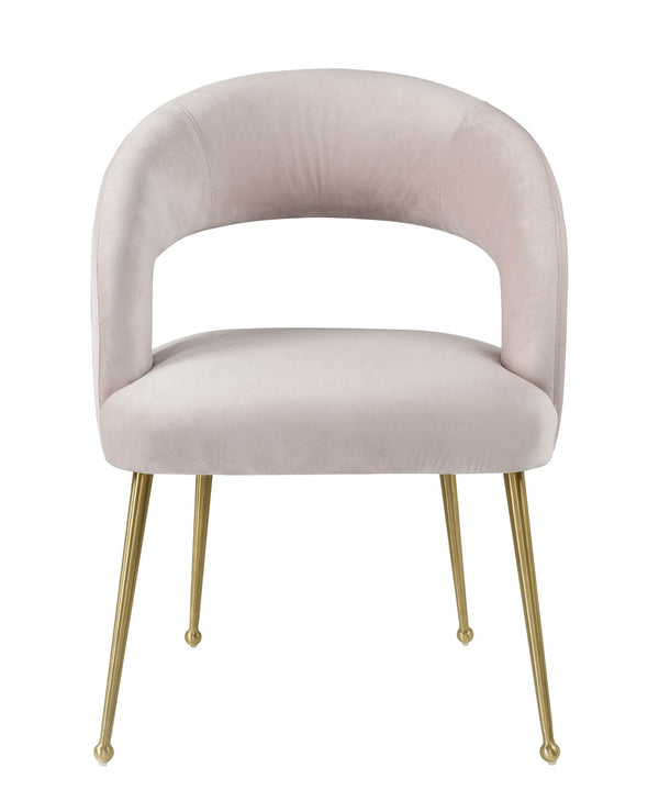 Rocco Blush Velvet Dining Chair