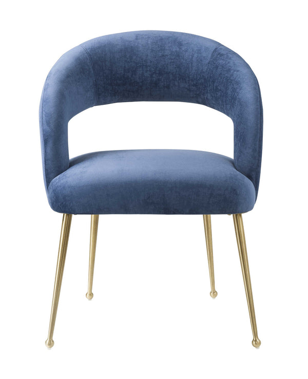 Rocco Slub Navy Dining Chair