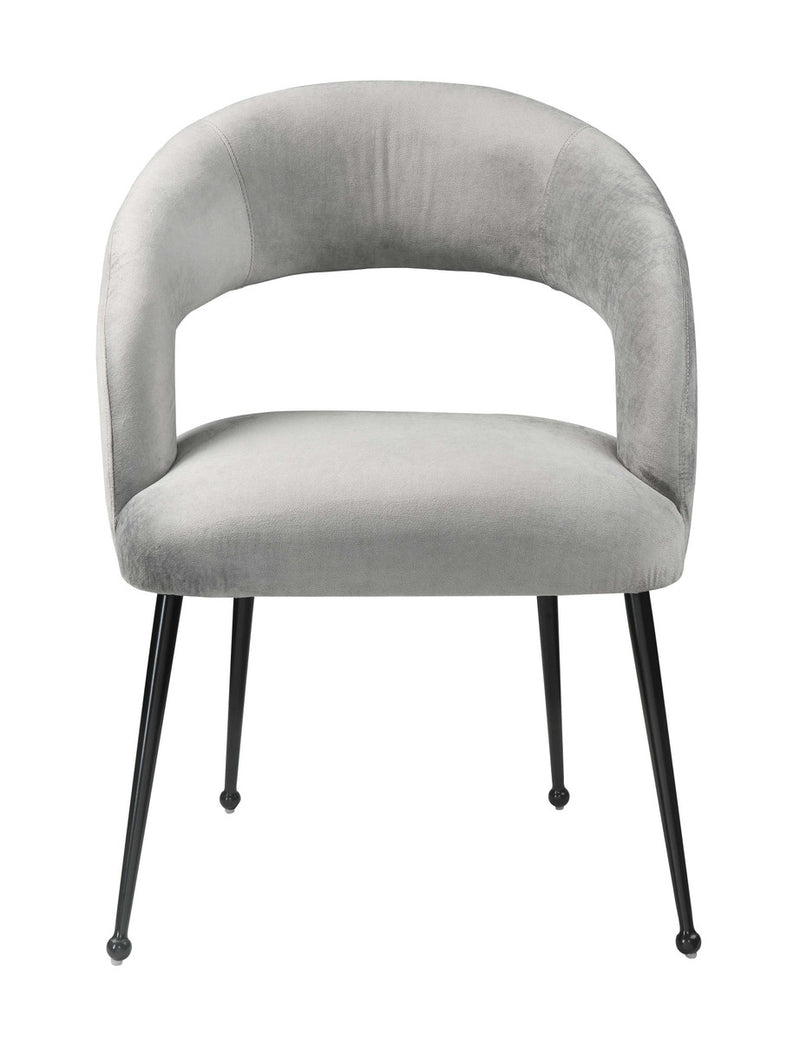 Rocco Slub Grey Dining Chair