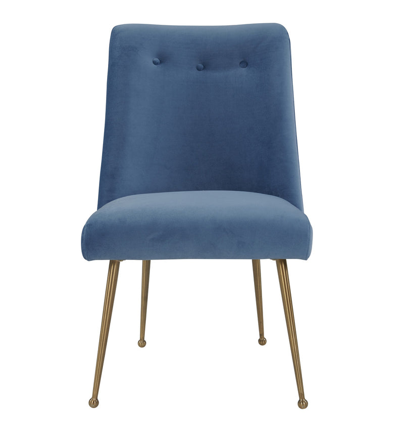 Batik Ocean Blue Velvet Dining Chair