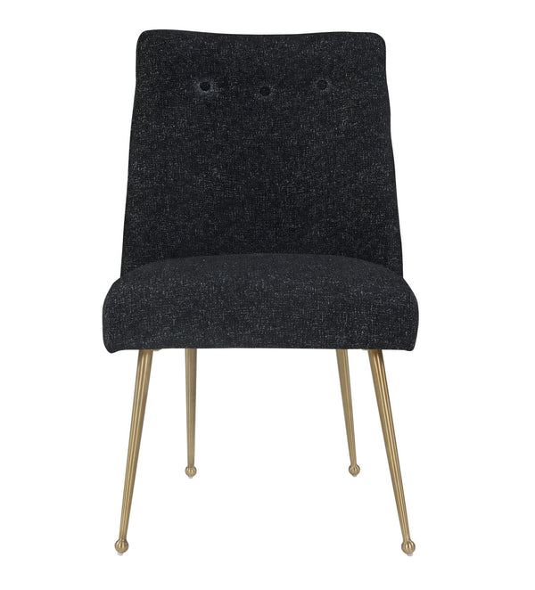 Batik Black Textured Linen Dining Chair