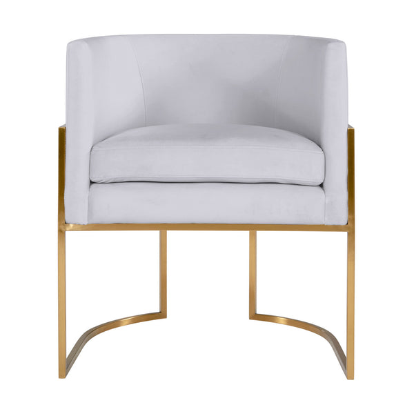 Giselle Grey Velvet Dining Chair with Gold Leg