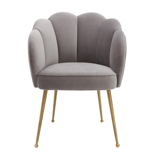 Peony Grey Velvet Dining Chair