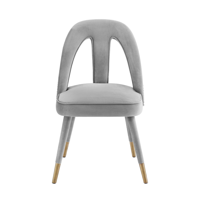 Petra Light Grey Velvet Dining Chair