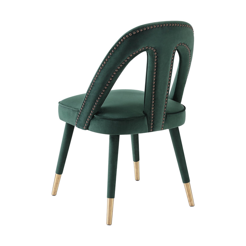 Petra Forest Green Velvet Dining Chair