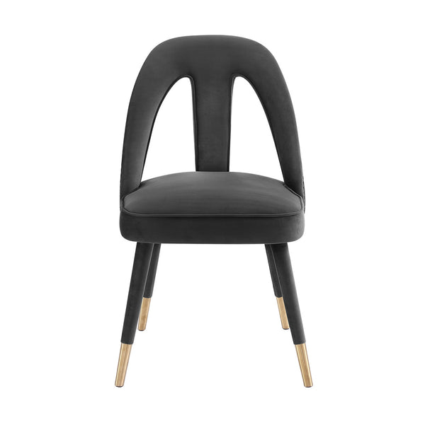 Petra Dark Grey Velvet Dining Chair