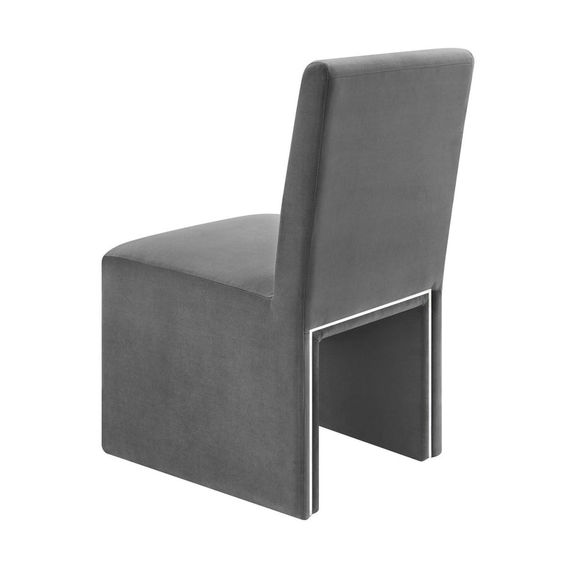 Jaffa Grey Performance Velvet Dining Chair