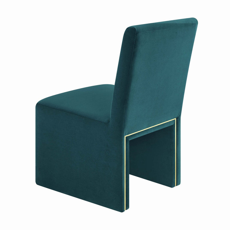 Jaffa Teal Performance Velvet Dining Chair
