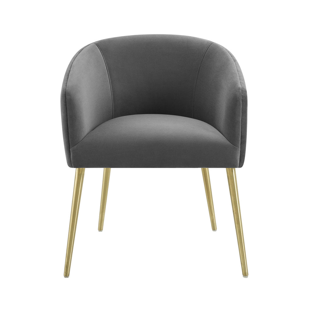 Arya Performance Velvet Grey Dining Chair