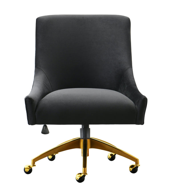 Beatrix Black Office Swivel Accent Chair