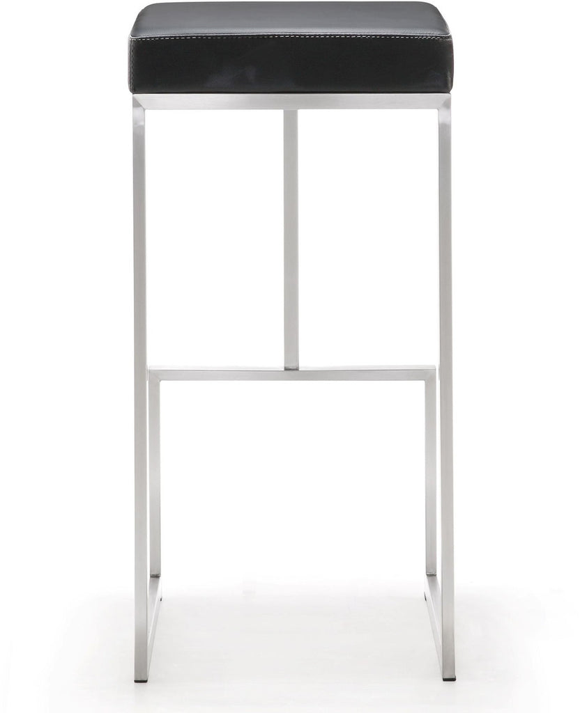 Ferrara Black Stainless Steel Barstool - Set of 2