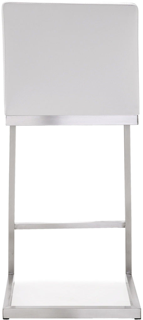 Parma White Steel Counter Stool