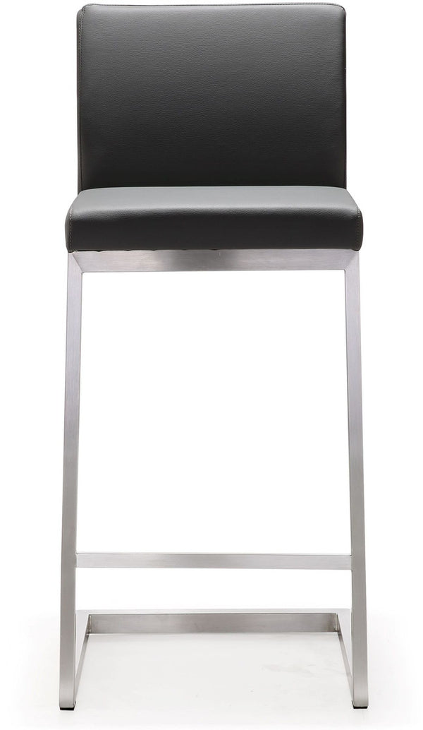 Parma Grey Steel Counter Stool