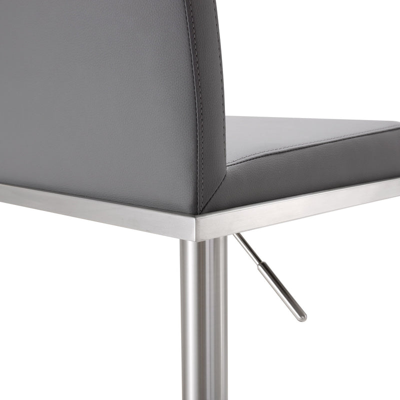 Amalfi Grey Stainless Steel Adjustable Barstool