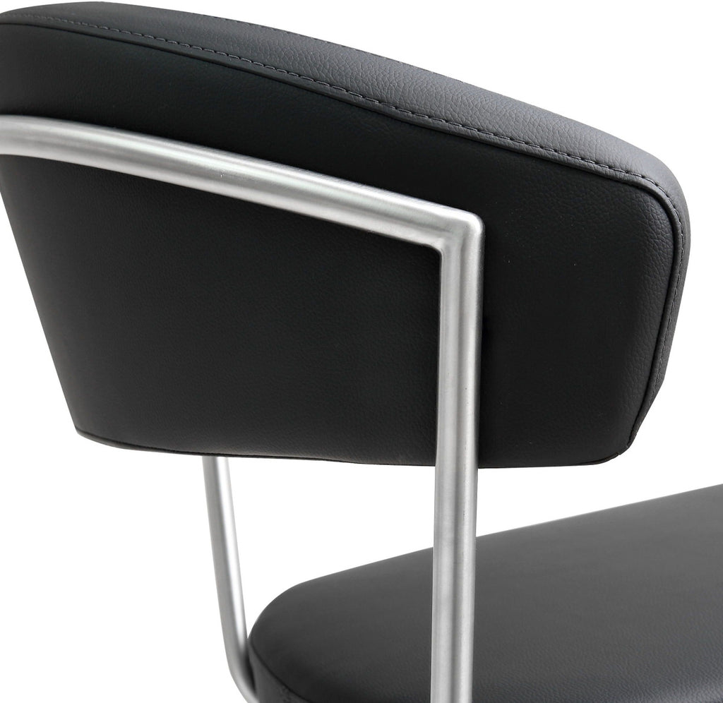 Cosmo Black Steel Adjustable Barstool