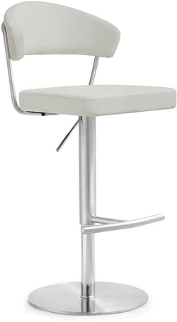 Cosmo Light Grey Steel Adjustable Barstool