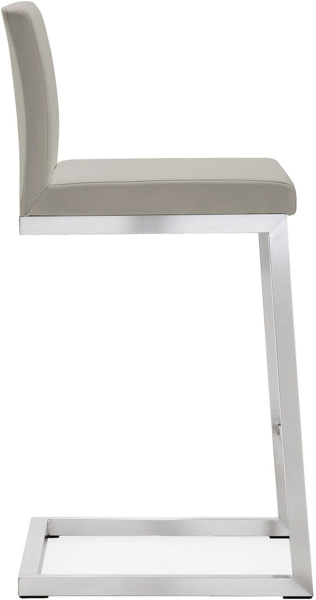 Parma Light Grey Steel Counter Stool