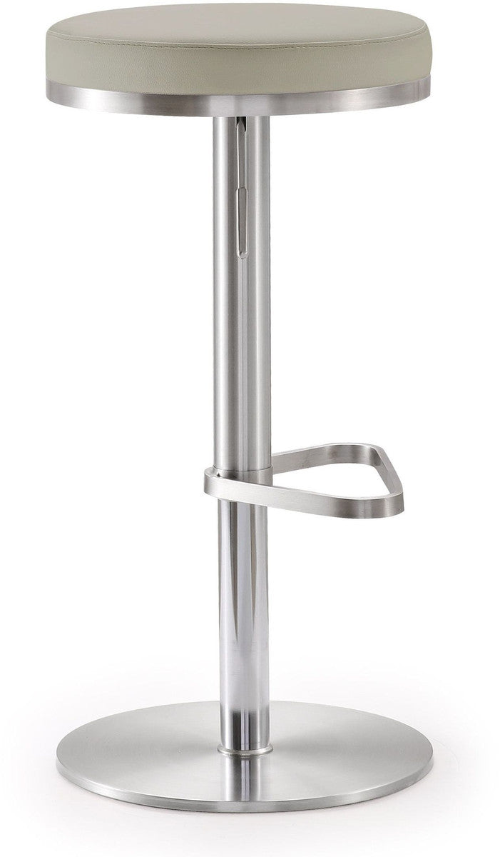 Fano Light Grey Stainless Steel Barstool