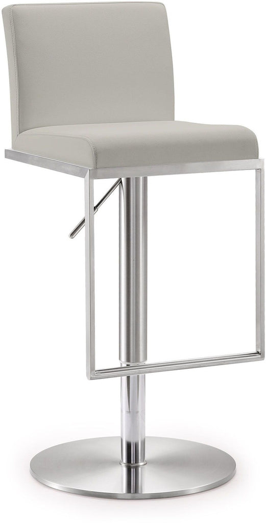 Amalfi Light Grey Stainless Steel Barstool