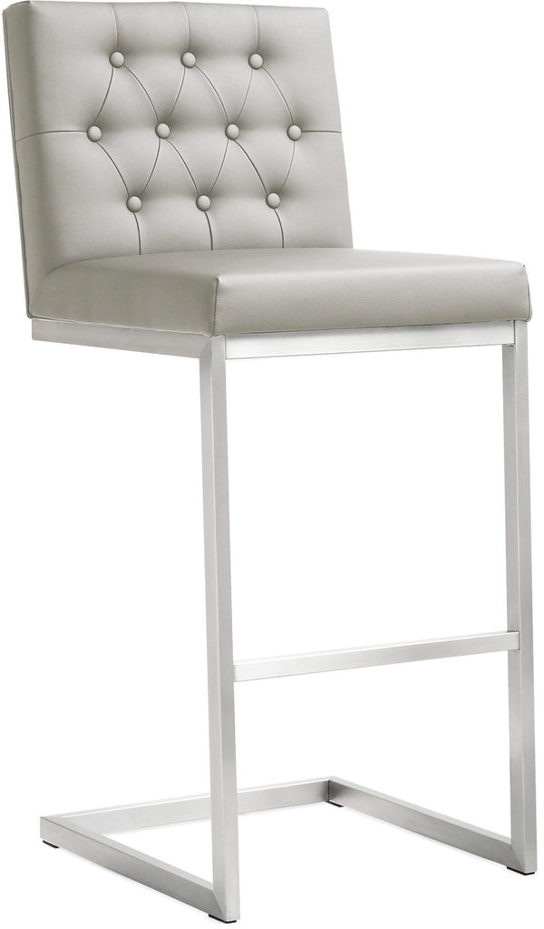 Helsinki Light Grey Steel Barstool (Set of 2)