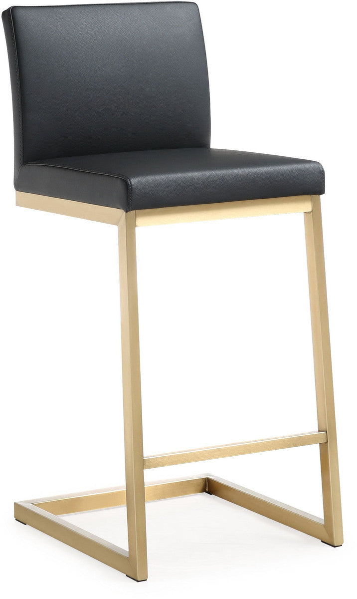 Parma Black Gold Steel Counter Stool (Set of 2)