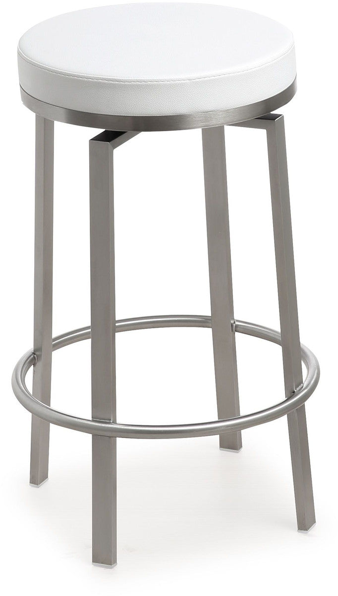 Pratt White Steel Counter Stool (Set of 2)