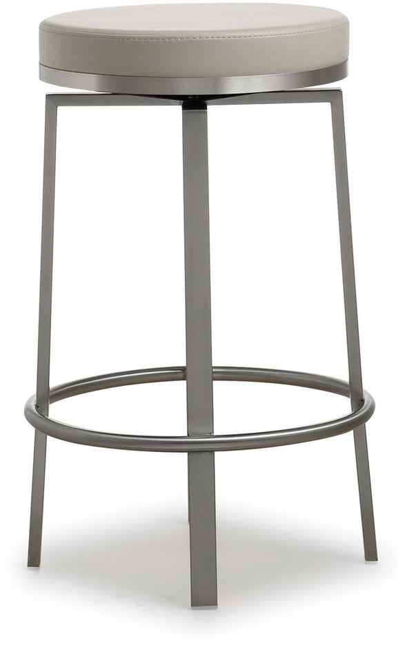 Pratt Grey Steel Counter Stool (Set of 2)