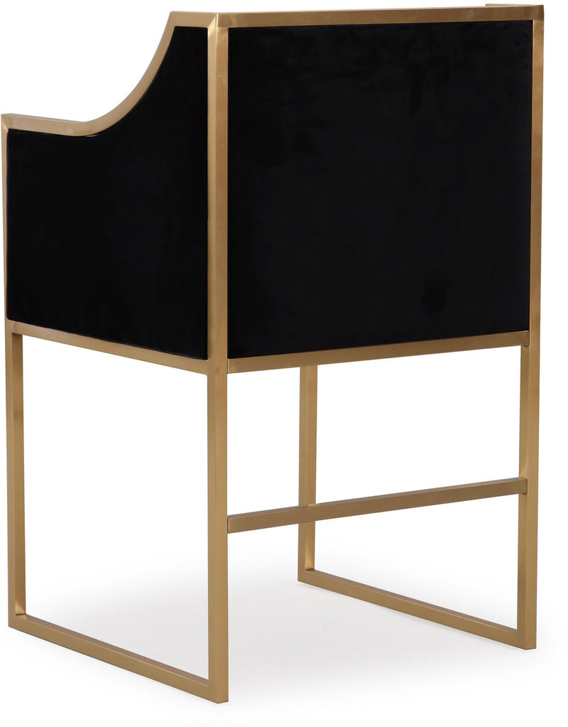Atara Back Velvet Gold Accent Chair