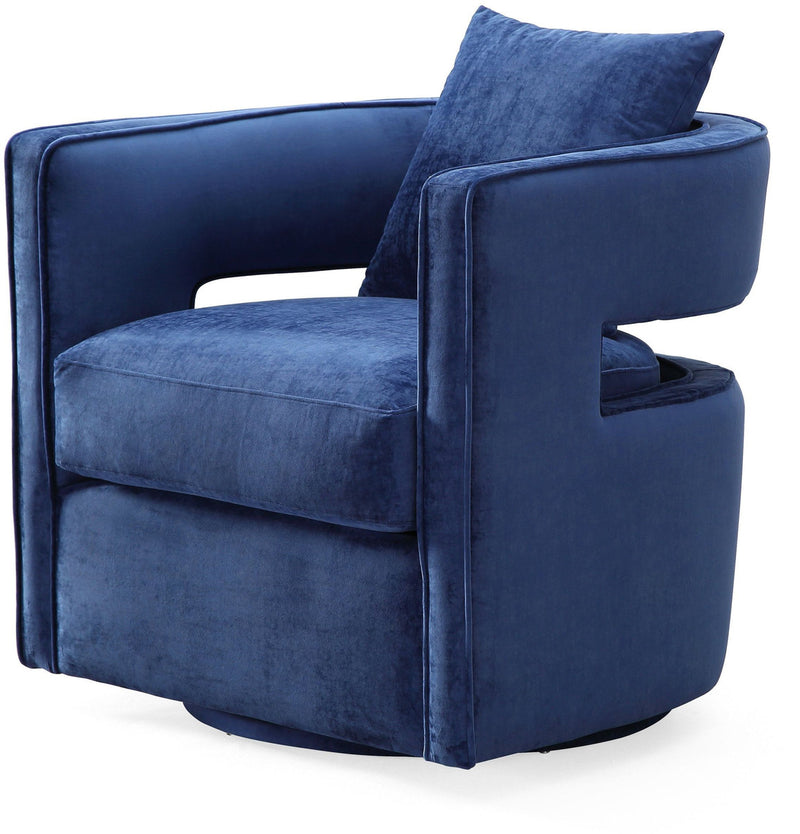 Kennedy Navy Swivel Accent Chair