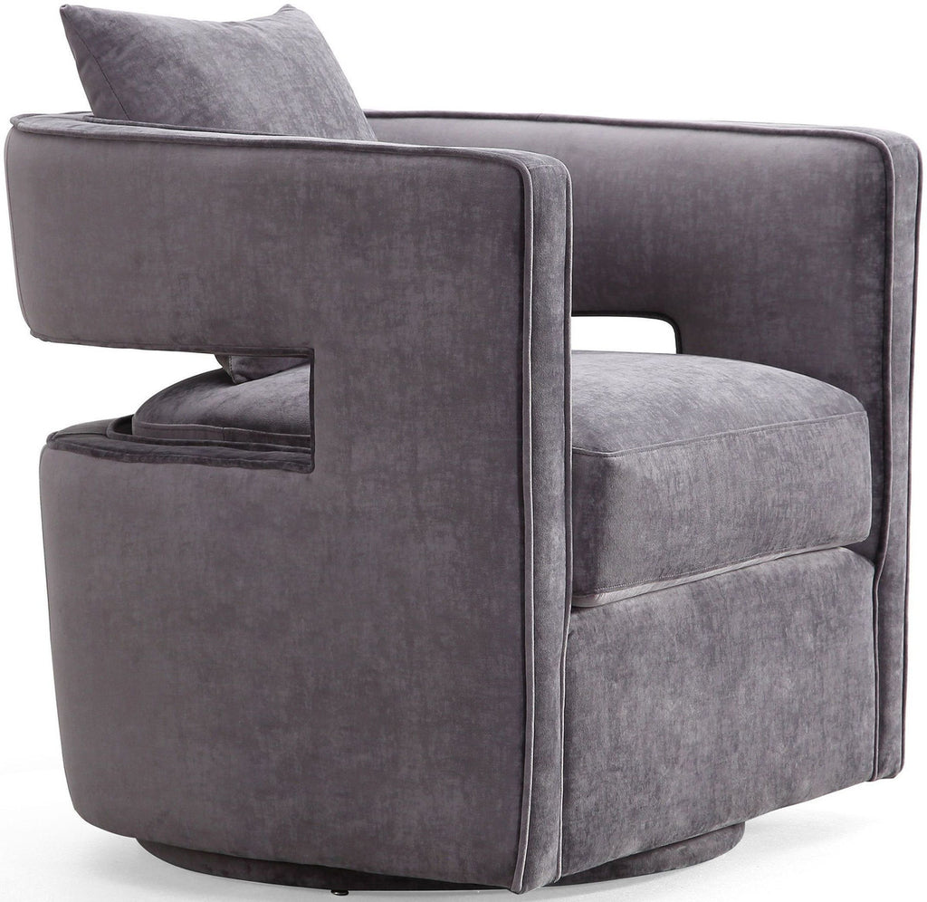 Kennedy Grey Swivel Accent Chair