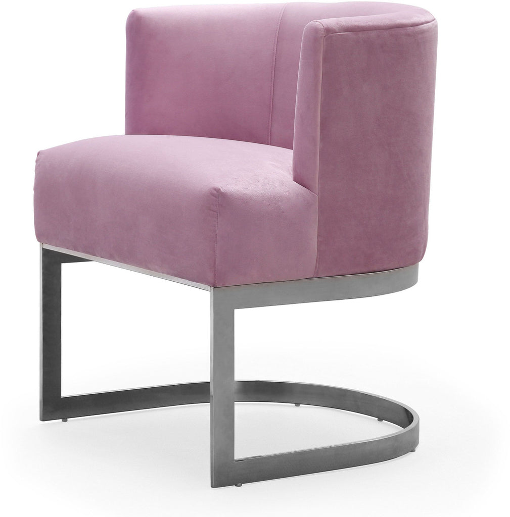 Eva Blush Velvet Accent Chair