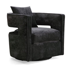 Kennedy Black Swivel Accent Chair