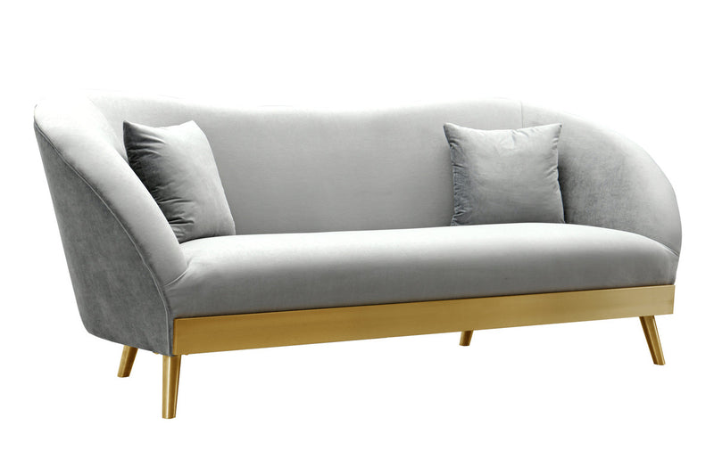 Chloe Grey Velvet Sofa