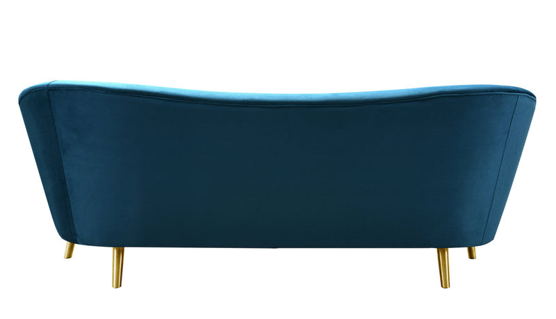 Chloe Spotted Blue Velvet Sofa
