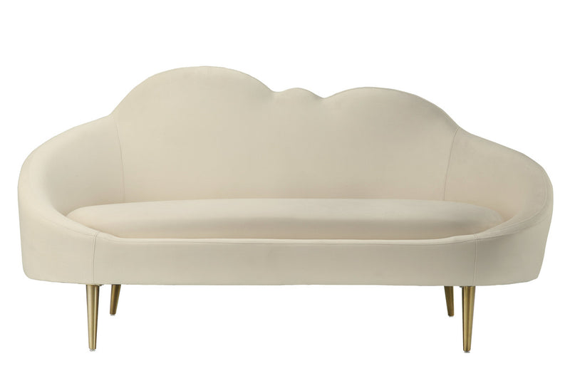 Cloud Cream Velvet Setee Loveseat