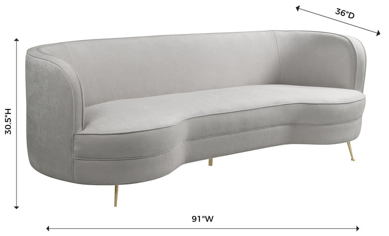 Flare Cream Chenille Sofa