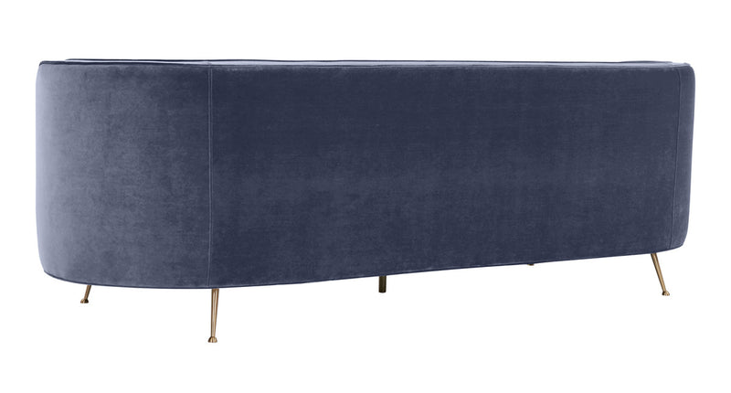Flare Dark Grey Velvet Sofa